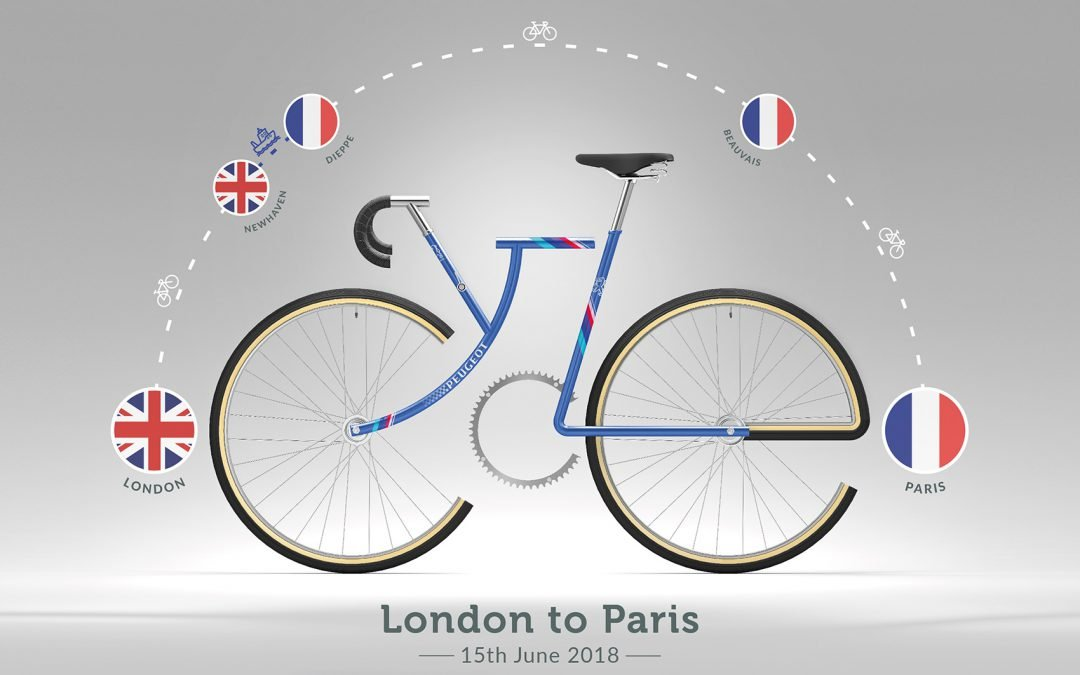 Chris takes on London to Paris 2018.